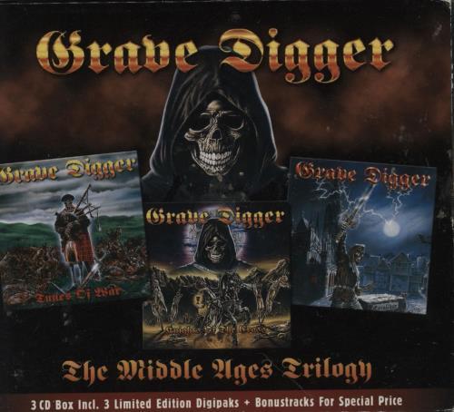 Grave Digger The Middle Ages Trilogy 3-CD album set (Triple CD) German GXH3CTH751436