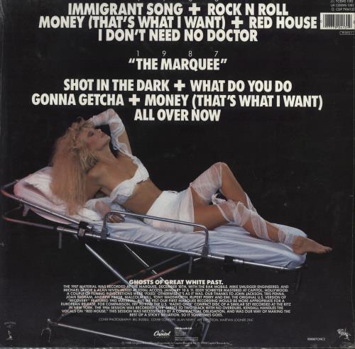 Great White Recovery: Live! - stickered shrink vinyl LP album (LP record) UK G-WLPRE777099