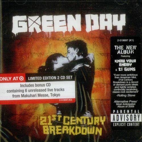 Green Day 21st Century Breakdown - Sealed 2 CD album set (Double CD) US GRN2CST546592