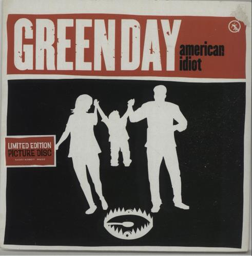 "Green Day American Idiot 7"" vinyl picture disc 7 inch picture disc single UK GRN7PAM301066"