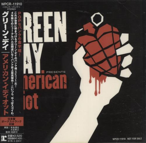Green Day American Idiot CD album (CDLP) Japanese GRNCDAM472940