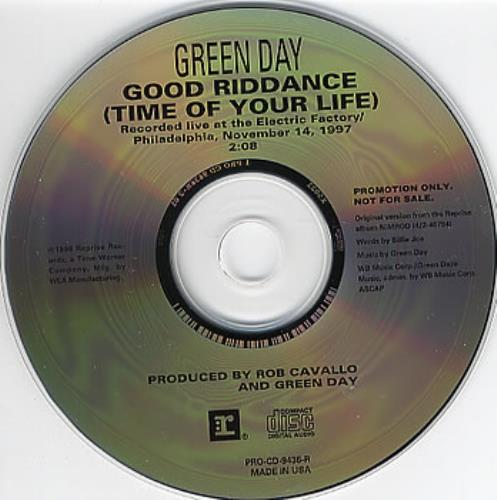 Image result for good riddance time of your life cd