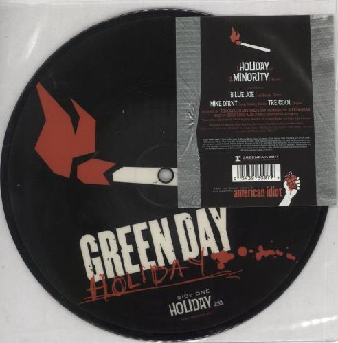 """Green Day Holiday 7"""" vinyl picture disc 7 inch picture disc single UK GRN7PHO319204"""