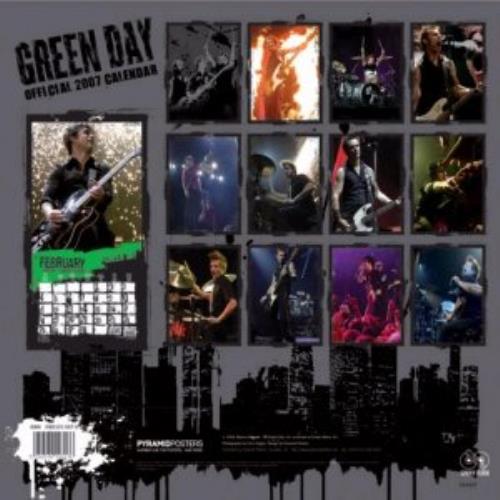 Green Day Official Calendar 2007 calendar UK GRNCAOF353606