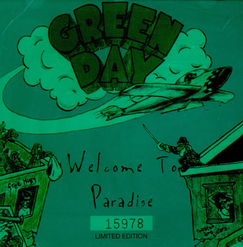 """Green Day Welcome To Paradise - Numbered CD single (CD5 / 5"""") UK GRNC5WE35406"""