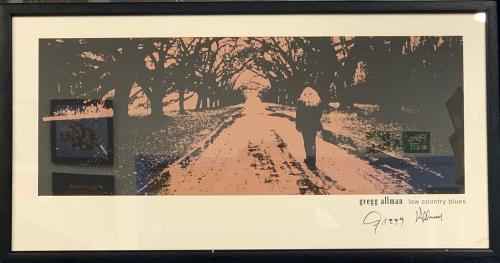 Gregg Allman Low Country Blues - Signed & Numbered Lithograph poster UK GGAPOLO761464