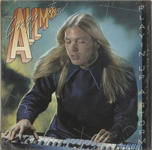 Gregg Allman Playin' Up A Storm - red label vinyl LP album (LP record) US GGALPPL699530