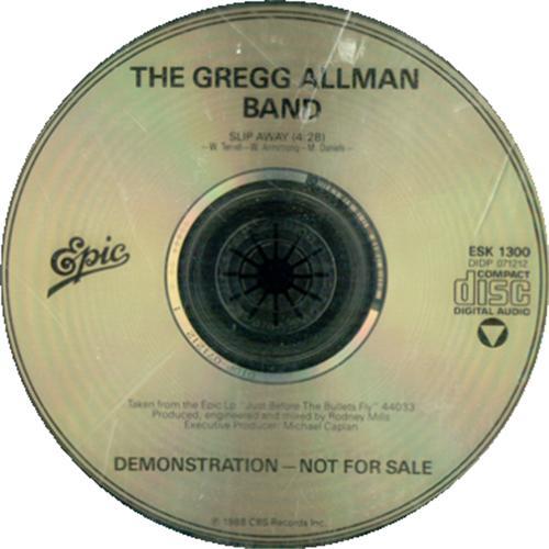 "Gregg Allman Slip Away CD single (CD5 / 5"") US GGAC5SL293573"