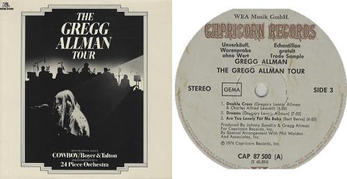 Gregg Allman The Gregg Allman Tour German Promo 2 Lp Vinyl