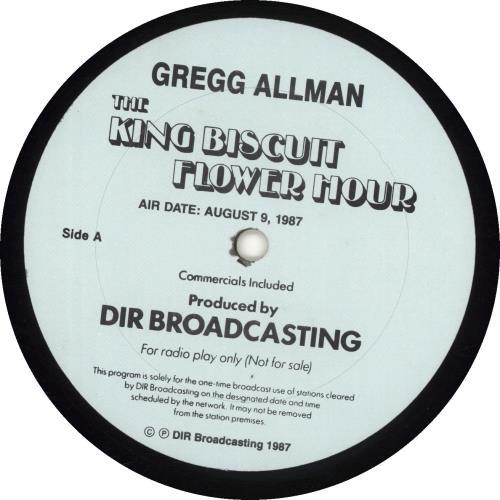 Gregg Allman The King Biscuit Flower Hour 2-LP vinyl record set (Double Album) US GGA2LTH688567