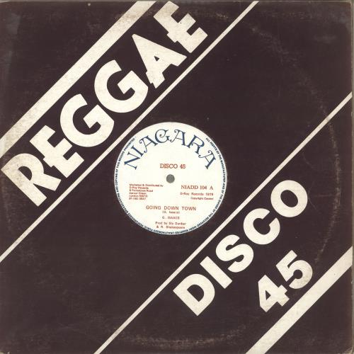 "Gregory Isaacs Going Down Town 12"" vinyl single (12 inch record / Maxi-single) UK GRG12GO716534"