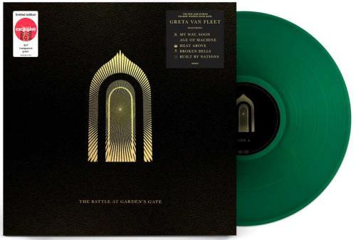 Greta Van Fleet The Battle At Garden's Gate - Transparent Green Vinyl - Sealed 2-LP vinyl record set (Double Album) UK Q3L2LTH767577