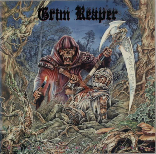 Grim Reaper Rock You To Hell vinyl LP album (LP record) US GR3LPRO606979