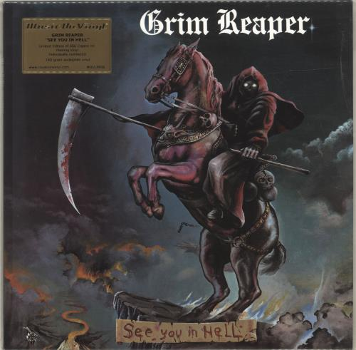 Grim Reaper See You In Hell - 180gram Flaming Vinyl + Numbered vinyl LP album (LP record) UK GR3LPSE698795