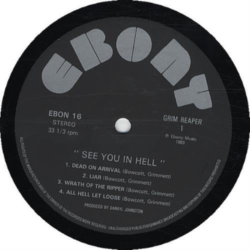 Grim Reaper See You In Hell vinyl LP album (LP record) UK GR3LPSE332609
