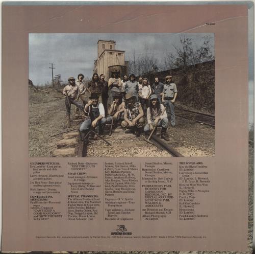 Grinderswitch Honest To Goodness vinyl LP album (LP record) US GWTLPHO703178