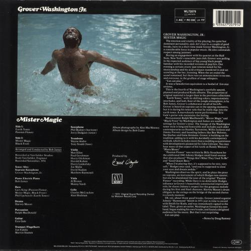 Grover Washington Mister Magic German Vinyl Lp Album Lp