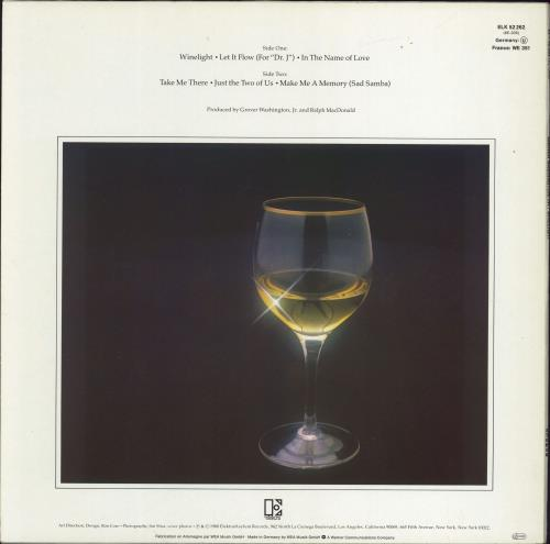 Grover Washington Winelight - Hype-Flash Sleeve vinyl LP album (LP record) German GWJLPWI774799