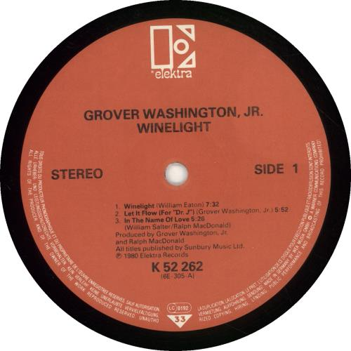 Grover Washington Winelight German Vinyl Lp Album Lp Record