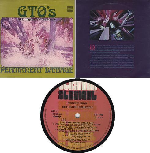 GTO's Permanent Damage vinyl LP album (LP record) US GT0LPPE335620