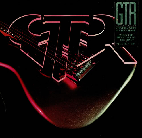 GTR GTR - Stickered vinyl LP album (LP record) German GAALPGT480707