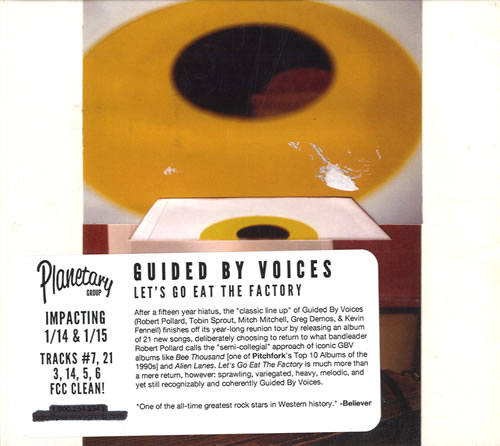Guided By Voices Let's Go Eat The Factory CD album (CDLP) US GBVCDLE557909
