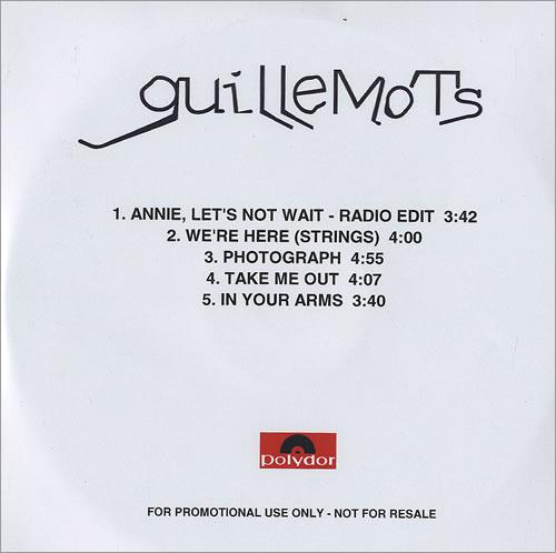 Guillemots Annie Let's Not Wait CD-R acetate UK GBQCRAN478397