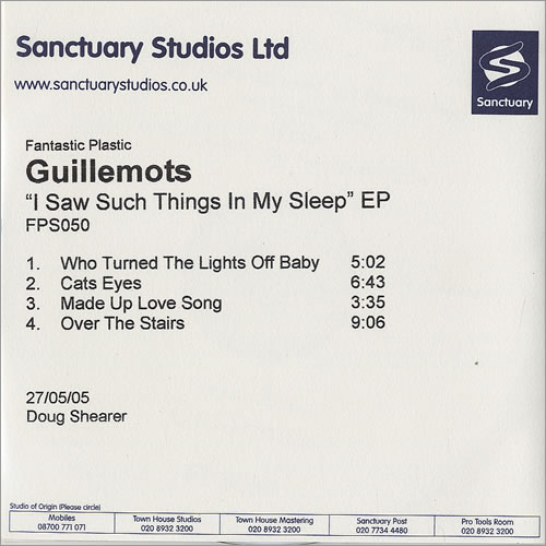 Guillemots I Saw Such Things In My Sleep EP CD-R acetate UK GBQCRIS479153