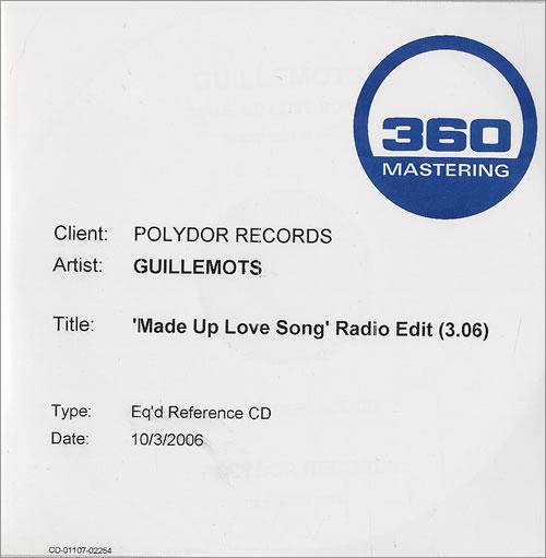 Guillemots Made Up Love Song - Radio Edit CD-R acetate UK GBQCRMA479158