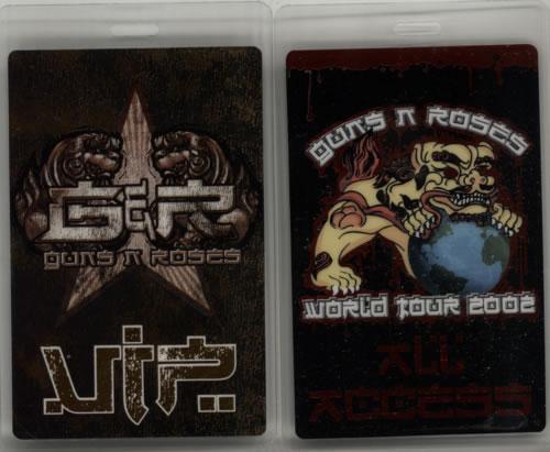 Guns N Roses 2002 Tour Passes - Set Of 17 tour pass US GNRTPTO427768
