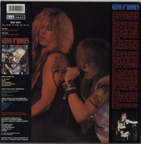 Guns N Roses Appetite For Conversation - Blue Vinyl vinyl LP album (LP record) UK GNRLPAP753549