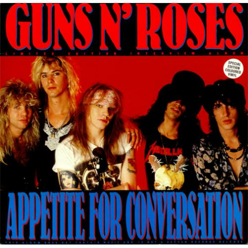Guns N Roses Appetite For Conversation - Clear Vinyl vinyl LP album (LP record) UK GNRLPAP424207