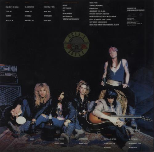 Guns N Roses Appetite For Destruction - 180gm + Hologroove Hologram 2-LP vinyl record set (Double Album) US GNR2LAP722149