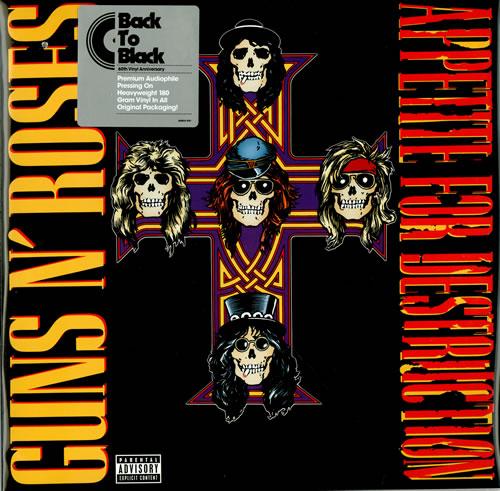 Guns N Roses Appetite For Destruction - 180gm in PVC vinyl LP album (LP record) US GNRLPAP458249
