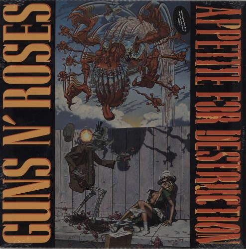 Guns N Roses Appetite For Destruction - Banned Sleeve - Sealed vinyl LP album (LP record) US GNRLPAP350544