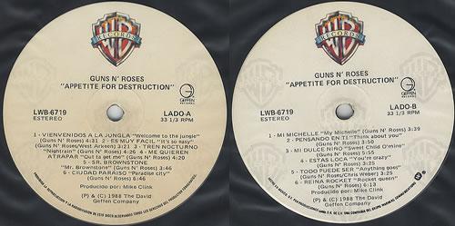 Guns N Roses Appetite For Destruction Cross Slv Mexican