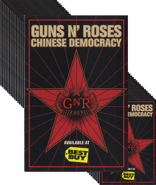 Guns N Roses Best Buy Chinese Democracy Promotional Stickers memorabilia US GNRMMBE487301