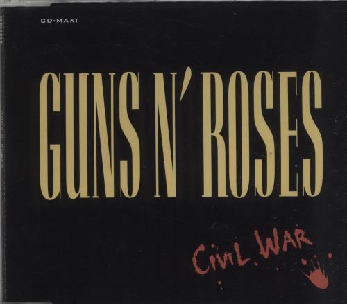"""Guns N Roses Civil War CD single (CD5 / 5"""") German GNRC5CI15278"""
