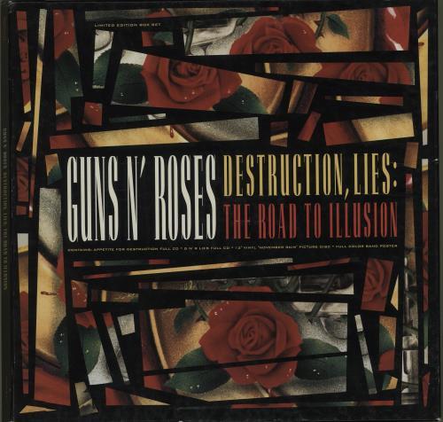 Guns N Roses Destruction, Lies: The Road To Illusion - EX box set German GNRBXDE677994