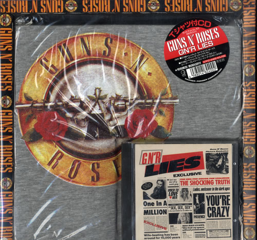 Guns N Roses GN'R Lies - CD + T-Shirt box set Japanese GNRBXGN168576