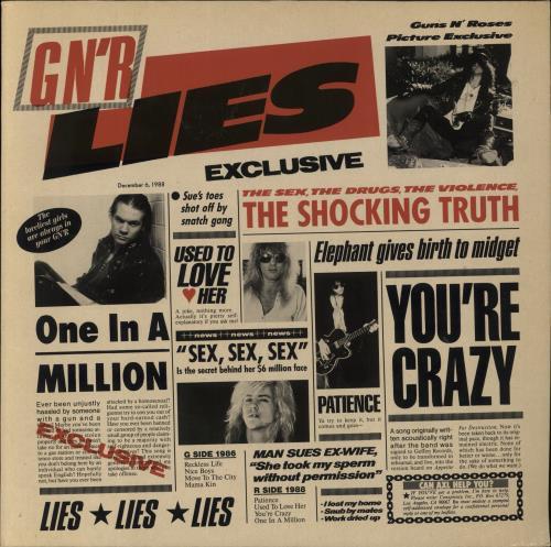 Guns N Roses GN'R Lies - EX vinyl LP album (LP record) UK GNRLPGN598551