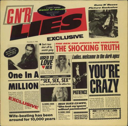 Guns N Roses GN'R Lies - VG vinyl LP album (LP record) UK GNRLPGN773001