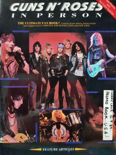 Guns N Roses In Person - Autographed book US GNRBKIN683192