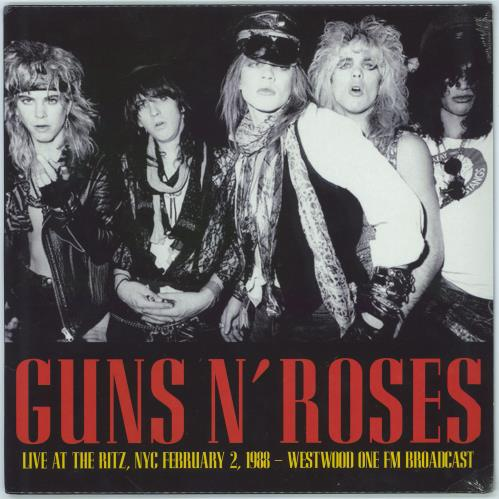 Guns N Roses Live At The Ritz, NYC February 2 1988 - Westwood One FM Broadcast - Sealed vinyl LP album (LP record) UK GNRLPLI772556
