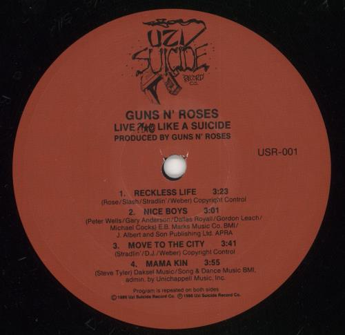 "Guns N Roses Live Like A Suicide EP - Shrink 12"" vinyl single (12 inch record / Maxi-single) US GNR12LI683798"