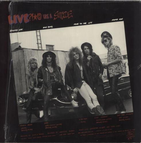 "Guns N Roses Live Like A Suicide EP - Shrink 12"" vinyl single (12 inch record / Maxi-single) US GNR12LI683798"