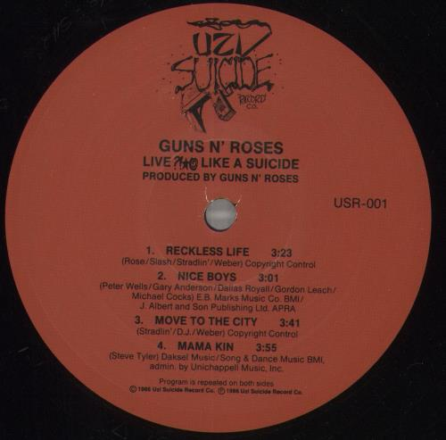 "Guns N Roses Live Like A Suicide EP 12"" vinyl single (12 inch record / Maxi-single) US GNR12LI29933"