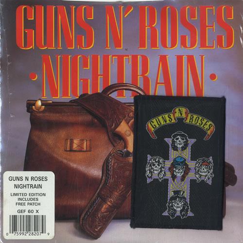 "Guns N Roses Nightrain + Patch - Sealed 7"" vinyl single (7 inch record) UK GNR07NI582095"