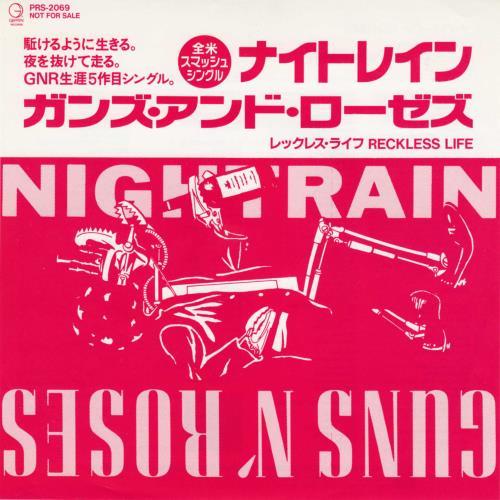 "Guns N Roses Nightrain 7"" vinyl single (7 inch record) Japanese GNR07NI146493"