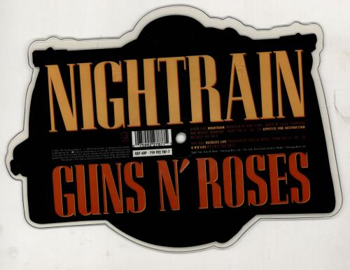 Guns N Roses Nightrain shaped picture disc (picture disc vinyl record) UK GNRSHNI765987